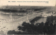 CPA Carte Postale Ancienne Paris Panorama du pont Alexandre III