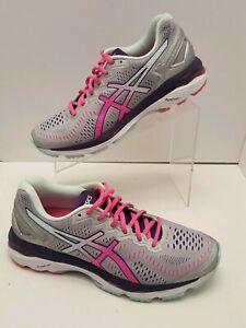 Asics Gel Kayano 23 Gray/Pink Running Training Shoes Women's US 9 / EUR 40.5 EUC