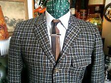 Vintage 60s Burleigh Tweed Thorn Proof Hacking Modernist Mod Jazz Jacket.Small