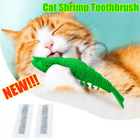 Cat Self-Cleaning Toothbrush-With Catnip INSIDE INTERACTIVE CAT DENTAL TOY UK zn