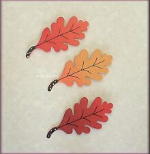 OAK LEAF METAL MAGNETS SET OF 3 EMBELLISH YOUR STORY FREE U.S. SHIPPING