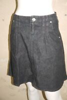 BENETTON Taille 38 Superbe jupe en jeans jean denim bleu brut