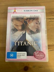 TITANIC MOVIE DVD EXCELLENT CONDITION ROMANCE DISASTER HISTORY KATE WINSLET