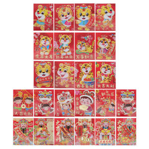 60Pcs New Year Money Pouch Spring Red Envelopes for New Year Family Gift