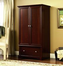 Wardrobe Armoire Closet Dresser for Clothes Large Storage Cabinet Cherry Wood