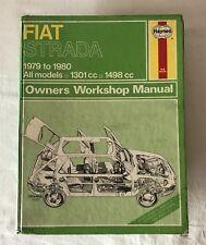 Fiat Strada 1979-80 All Haynes Owners Workshop Manual 479 Strasman Hardback 1981