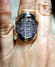Two Tone Sterling Silver & 9k Gold Ring size S SAME DAY SHIPPING
