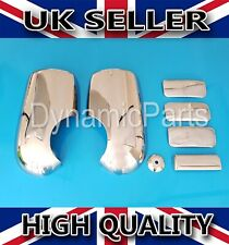 FORD TRANSIT MK6 MK7 CHROME WING MIRROR COVERS & 4 DOOR HANDLE COVERS 2000-2013