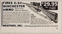 1960 Print Ad British .303 Cal. Sporter Rifles Winchester Ammo Culver City,CA
