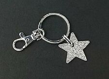 Star Key Chain Purse Charm Crystal Silver Zipper Pull Jewelry Christmas Gifts