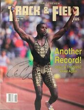 Olympics Carl Lewis Signed June 1992 Track & Field Autograph Magazine 16C