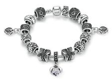 Silver Bead Snake Chain Bracelet