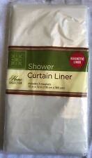 "See-Through Standard 70"" X 72"" Waterproof Plastic Shower Curtain Magnetic Liner"