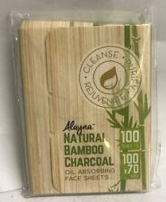 Alayna Natural Bamboo Charcoal Oil-Absorbing Face Sheets, 100 Sheets