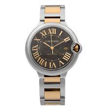 Cartier Ballon Bleu Gold Steel Chocolate Dial Automatic Mens Watch W6920032