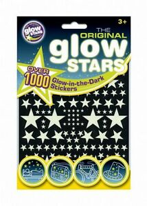 GLOW IN THE DARK STARS x 1000 Ceiling Walls Boys Girls Stickers Kids Bedroom