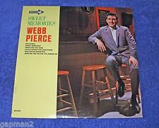 Webb Pierce 1966 Decca Mono LP Sweet Memories cLEAn!