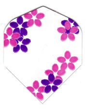 Dart Flights- Pink & Purple Floral Amerithon 1 Standard Set - Made in the USA!