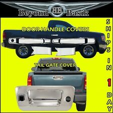 2007-2013 Chevy Silverado GMC Sierra Chrome Door Handle Covers+Tailgate w/Cam hl