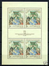 1968 Czechoslovakia SC 1555 Gutter Block of 4, FIP Day - MNH**