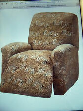 JERSEY RECLINER COVER-LAZY BOY ---LEOPARD---  FITS MOST CHAIRS --FREE SHIPPING