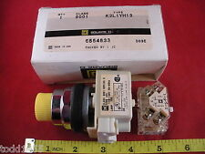 Square D 9001 K2L1YH13 Yellow Pushbutton Switch Ser H KM1 110 120v Lamp 755 New