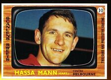 1967 Scanlens Melbourne No. 10 Hassa Mann Demons near MINT football card