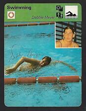 Debbie Meyer Signed 1970s Sportscaster card Olympic Gold Medal Swimmer