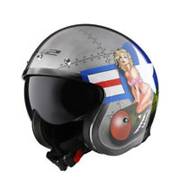 LS2 Vintage Motorcycle Plating Helmet Open Riding Riding Retro Jet Half Helmets