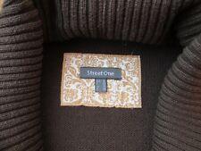 Damen Strick Pullover Schalkragen Marke Street One Braun Gr.36