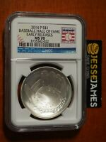 2014 $1 P UNC BASEBALL SILVER COMMEMORATIVE DOLLAR NGC MS70 EARLY RELEASES HOF