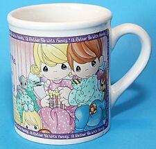 Precious Moments Cup Mug Family Sentiment Ceramic Vintage Enesco 12 Oz Vgc