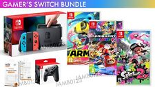 Nintendo Switch Console Neon + 3 Games + Extra Controller GAMER'S BUNDLE