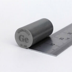 Germanium Metal Rod 99.999% 10diameter x20mm length 8.4grams Element Ge specimen
