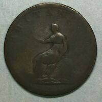 1806 King George III Half Penny Copper Coin #SS782