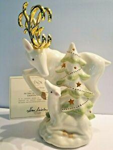 LENOX In the Quiet of Winter Lighted Reindeer Figurine NEW IN BOX