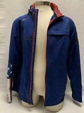 2010 Under Armour Jacket Olympics Hooded Coat Sz Large L Flag Red Blue