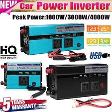 4000W Peak 2000W Power Inverter DC 12V AC 110V Car Invertor Converter Charger US