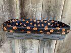 Custom Halloween Boo Pumpkins LINER for Longaberger Bread Basket
