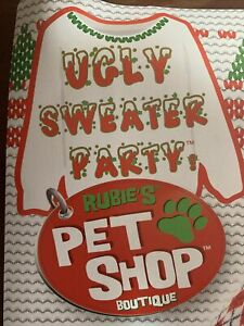 Dog sweater. Ugly Christmas Pet Sweater With Candy Cane Large.