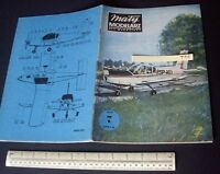 ZLIN 42-M Sport Plane Maly Modelarz Poland Vintage Cut-Out Paper Model 1970s