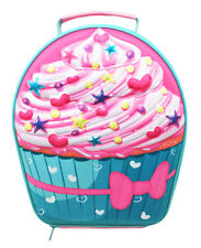 Polar Gear Kids 3D EVA Lunch Bag, Cupcake School Fun Cooler Pack Up Pink Girls