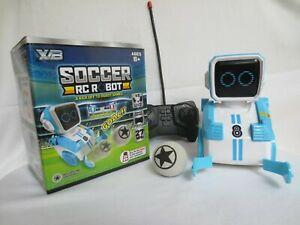 Soccer Remote Control Robot Blue With 4 Direction Control Multicolor Works!