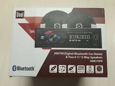 New listing Dual Am Fm Digital Bluetooth Car Stereo With Two Six And A Half Inch 2-way.