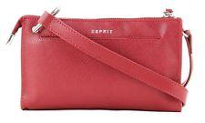 Esprit Shoulder Bag Saffiano Clutch Dark Red