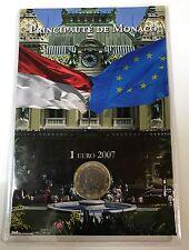 1 Euro MONACO 2007 - Fürst Albert - im Blister - Euromünzen aus Euro-KMS  #2 RAR