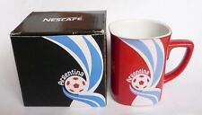 "NESCAFE COFFEE Red FIFA Brazil Mug ARGENTINA World Cup 2014 Nestle 3.5"" Malaysia"