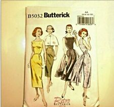 Butterick Retro 1952 Easy Sew 5032 Capelet Pencil Cocktail Dress Sz 6 8 10 12
