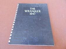 VINTAGE 1947 WRANGLER HIGH SCHOOL YEARBOOK WICKENBURG ARIZONA W/ PHOTOS, ADS