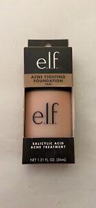 e.l.f. Acne Fighting Foundation, Salicylic Acid, Sand 1.2 fl oz ~ NEW